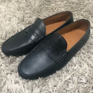 Polo by Ralf Lauren navy blue leather loafers